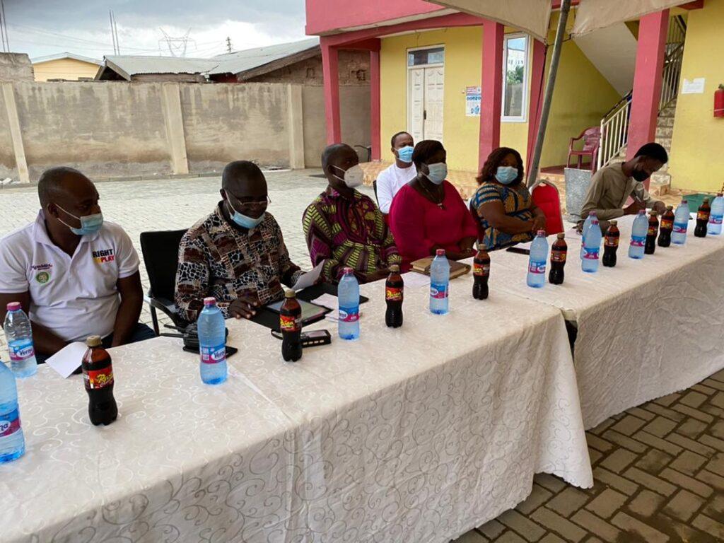 PTA Executives seated during a PTA meeting